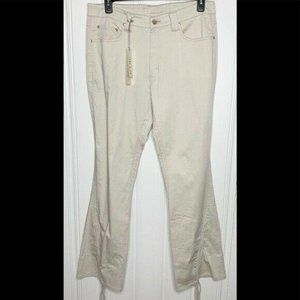 Apollo Khaki Flare Stretch Jeans Junior Size 17/18